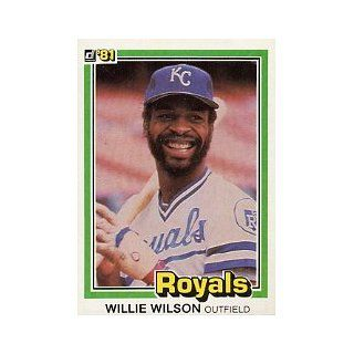 1981 Donruss #223 Willie Wilson: Collectibles