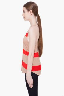 Haute Hippie Silk Trim Racerback Tank Top for women
