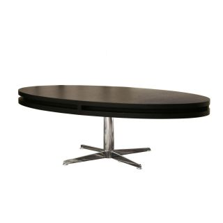 McKenzie Modern Black Oval Rotating Coffee Table