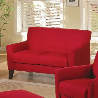 Uptown Collection Red Loveseat