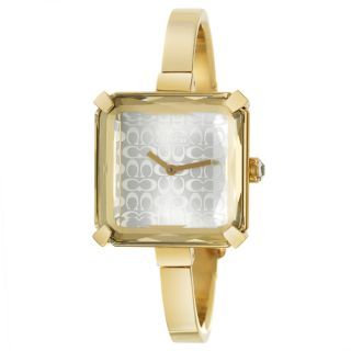 Coach Cocktail Womens Stainless Steel Yellow Gold Plated Watch