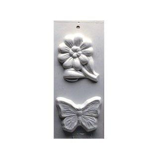 Yaley Soapsations Plastic Mold Flower & Butterfly 2 shapes