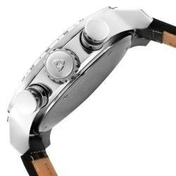 Swiss Legend Mens SL Pilot Black Genuine Calf Leather Strap Watch