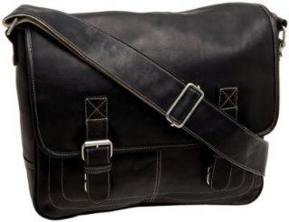 Latico Mens Basics Adventurer Messenger Bag, Black, One Size Shoes