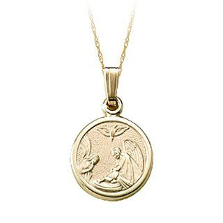 Childs Guardian Angel Pendant in 14K Yellow Gold Jewelry