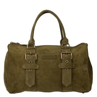 Longchamp Olive Duffel Bag