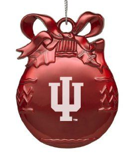 Indiana University   Pewter Christmas Tree Ornament   Red