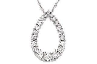 14k Gold 1/2ct TDW Diamond Journey Necklace (H I J, I1 I2)