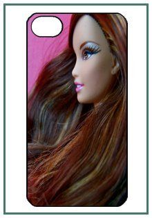 Barbie iPhone 4 iPhone4 Black Designer Hard Case Cover