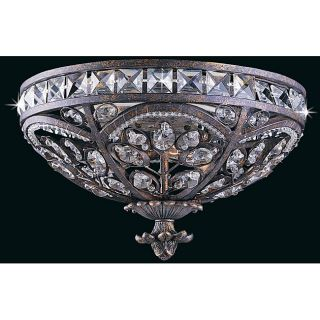 Triarch International Grand 3 light English Bronze Flush Mount
