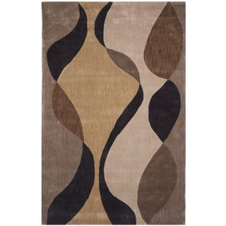 Dynasty Hand tufted Brown/ Ivory Rug (8 x 11)