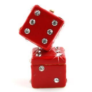 Objet dart The Dice Man Cometh Red Dice Trinket Box
