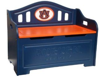 Auburn University Tigers Kids Furniture Storage Toy Bench