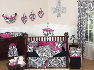Designer Hot Pink, Black and White Isabella Baby Girls