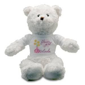 Flower Girl Personalized Teddy Bear Toys & Games