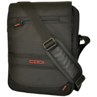 CODi Dispatch Black Vertical 14.1 inch Laptop Messenger Bag