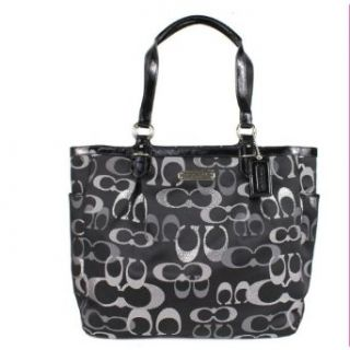 Coach Optic Signature Gallery Metallic North South Tote