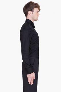 Yves Saint Laurent Black St James Poplin Shirt for men