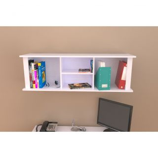 Inval White Wall Mount Hutch Bookcase Today $92.99 3.0 (1 reviews
