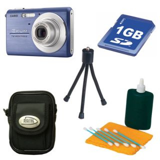 Casio Exilim EX Z75 7.2MP Blue Digital Camera with Bonus Kit (Refurb