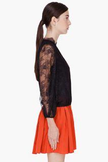 Alice + Olivia Black Lace Shauna Blouse for women