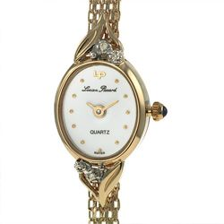 Lucien Piccard Womens 14k Gold Diamond Watch