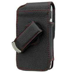 Premium HTC Droid Incredible Leather Vertical Case with Screen