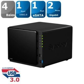 Synology Boîtier NAS 4 Baies DS412+   Achat / Vente SERVEUR STOCKAGE