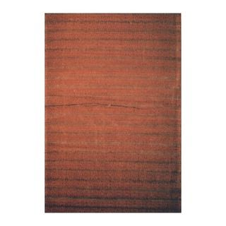 Indo Hand tufted Flat Weave Brown/ Light Brown Kilim Rug (56 x 8
