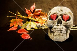 Halloween night with scary skull  Stock Photo © Eireann #1282783