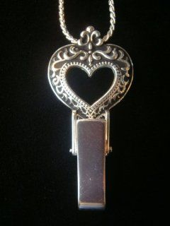SILVER DESIGNER BRIGHTON INSPIRED FRENCH HEART LANYARD, ID
