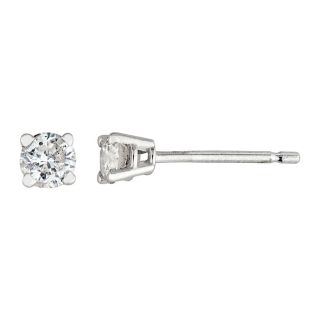 14k White Gold 1/4ct TDW Round Diamond Stud Earrings (H I, I2 I3