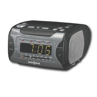 Insignia CD Stereo Clock Radio with AM/FM Tuner (Refurbished