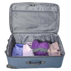 Kemyer Vacationer Lightweight Ocean Blue 4 piece Expandable Luggage