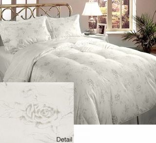 Crown Jewel 350 Thread Count White Goose Down 5 piece Comforter Set