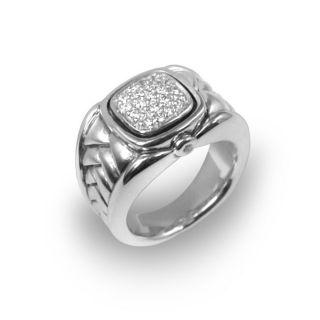 Scott Kay Sterling Silver 1/5ct TDW Diamond Ring