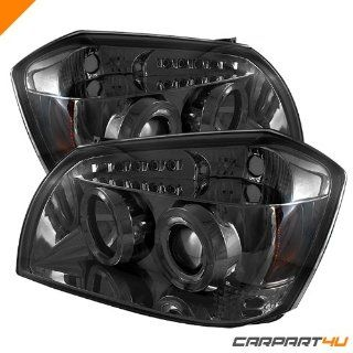 Dodge Magnum 05 08 Halo LED Projector Headlights   Smoke :