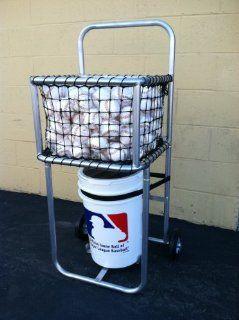 Baseball Batting Cage Portable Ball Caddy Cart with #21