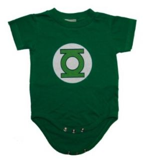 Green Lantern Logo Military Green Snapsuit Infant Onesie