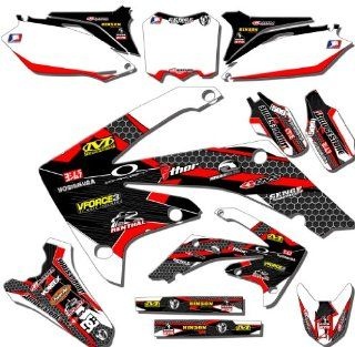 Senge Graphics 2005 2012 Yamaha TTR 230 Podium White/Red Graphics Kit
