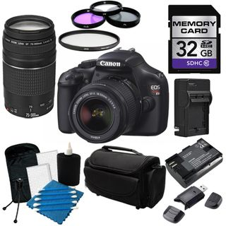 Canon EOS T3 Digital SLR Camera with 18 55mm ISII and 75 300Lens Kit