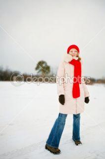 Cute fashion girl wearing winter clothin  Stock Photo © Olga