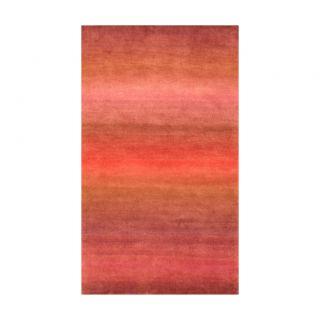 Indo Hand knotted Tibetan Purple/ Pink Wool Rug (37 x 56