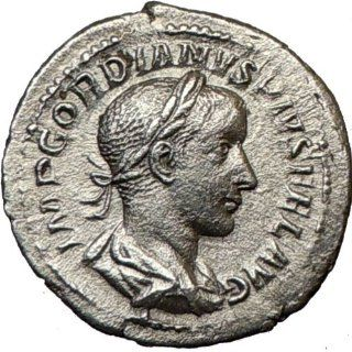 GORDIAN III 240AD Authentic Ancient Silver Roman Coin NUDE