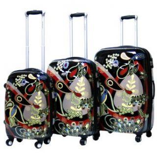 Woodstock Expandable Hardsided 3 Piece Spinner Luggage Set