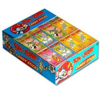 Tom and Jerry Candy Sticks   48 Packs of Candy Sticks in Display Box
