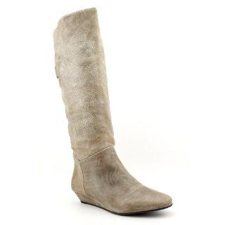 Steve Madden Women Iden Wedge Boot Shoes, Stone Leather, 6.5 Shoes