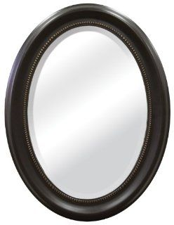 MCS Bronze Oval Mirror Frame, 16 by 23 Inch Mirror in 22.5