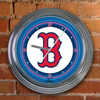 Boston Red Sox 15 inch Neon Clock