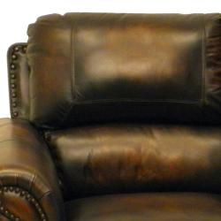 England Brown Hand rubbed Luxurious Italian Leather Sofa and Loveseat